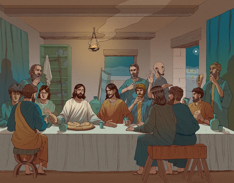 Last supper illustration color