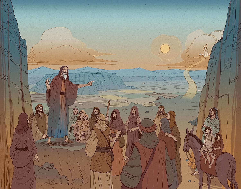prophet isaiah illustration color